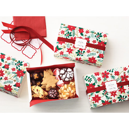 Martha Stewart Crafts - Woodland Collection - Christmas - Match Boxes - Poinsettia