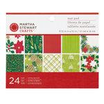 Martha Stewart Crafts - Woodland Collection - Christmas - Mat Paper Pad