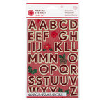 Martha Stewart Crafts - Woodland Collection - Christmas - Large Glitter Alphabet Stickers