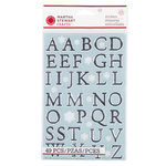 Martha Stewart Crafts - Snowflace Collection - Christmas - Large Alphabet Stickers