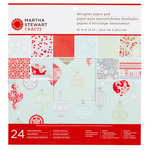 Martha Stewart Crafts - Snowflace Collection - Christmas - 12 x 12 Designer Paper Pad
