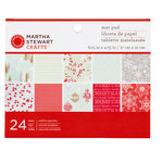 Martha Stewart Crafts - Snowflace Collection - Christmas - Mat Paper Pad
