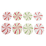 Martha Stewart Crafts - Wonderland Collection - Christmas - Coasters - Peppermint