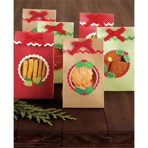 Martha Stewart Crafts - Cottage Christmas Collection - Die Cut Treat Bags