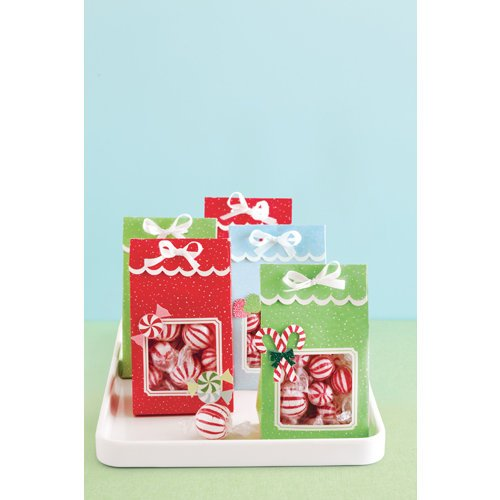 Martha Stewart Crafts - Wonderland Collection - Christmas - Die Cut Treat Bags