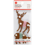 Martha Stewart Crafts - Wonderland Collection - Christmas - 3 Dimensional Stickers - Deer Twine Spool