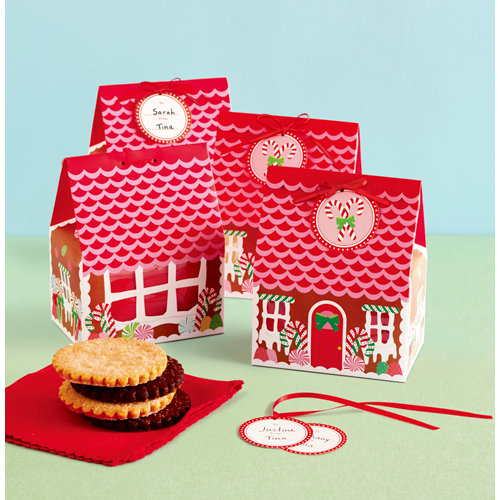 Martha Stewart Crafts - Wonderland Collection - Christmas - Treat Boxes - Gingerbread House