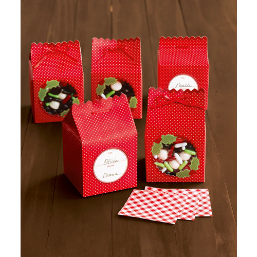 Martha Stewart Crafts - Cottage Christmas Collection - Treat Boxes - Scallop