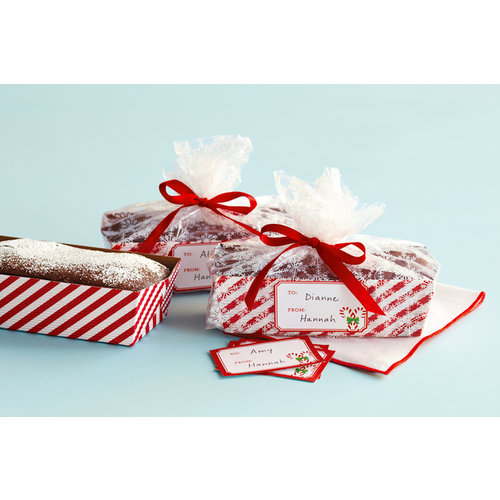 Martha Stewart Crafts - Wonderland Collection - Christmas - Loaf Tray and Cellophane Treat Bags