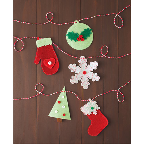 Martha Stewart Crafts - Cottage Christmas Collection - Garland - Icons
