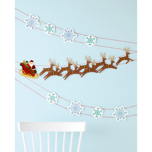 Martha Stewart Crafts - Wonderland Collection - Christmas - Garland - Sleighs