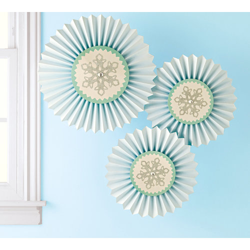 Martha Stewart Crafts - Wonderland Collection - Christmas - Hanging Rosettes - Snowflake