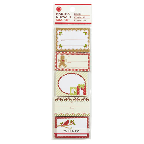 Martha Stewart Crafts - Cottage Christmas Collection - Adhesive Label Pad