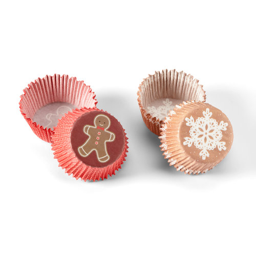 Martha Stewart Crafts - Cottage Christmas Collection - Cupcake Treat Wrappers