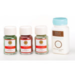 Martha Stewart Crafts - Holiday - Glitter Assortment - 3 Piece Set with Glue - Gingerbread Frost