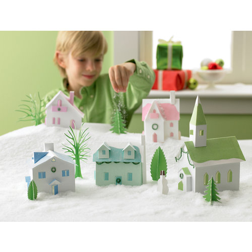 Martha Stewart Crafts - Holiday - Decoration Kit - Frosty Village