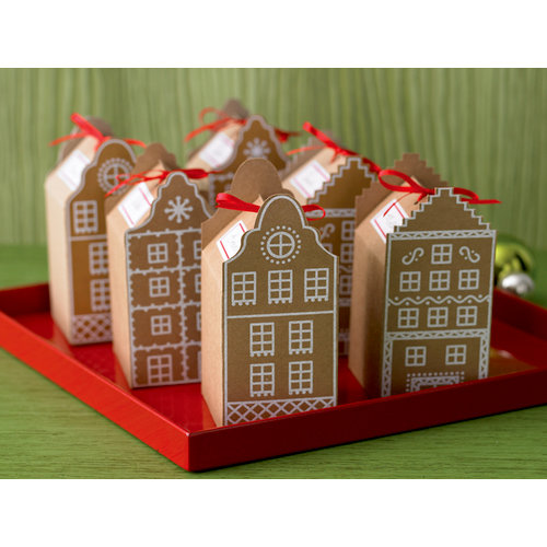 Martha Stewart Crafts - Holiday - Cookie Favor Boxes - Gingerbread