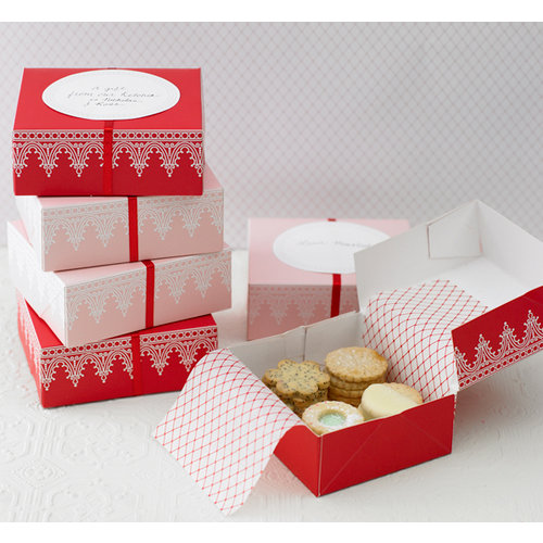 Martha Stewart Crafts - Holiday - Cookie Boxes - Iced, BRAND NEW