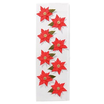 Martha Stewart Crafts - Holiday - 3 Dimensional Stickers - Poinsetta