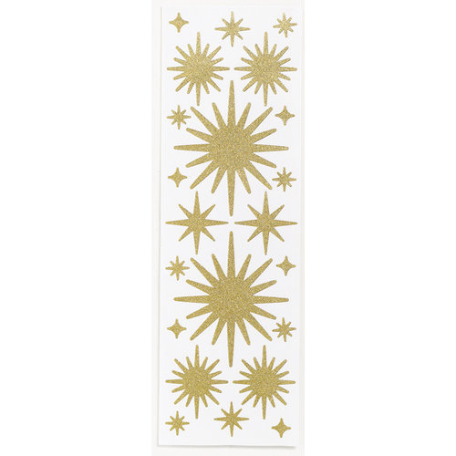 Martha Stewart Crafts - Holiday - Glitter Stickers - Stars