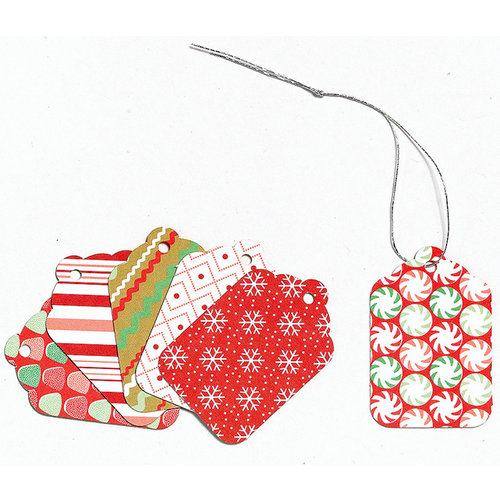 Martha Stewart Crafts - Holiday - Mini Tags - Gingerbread, CLEARANCE