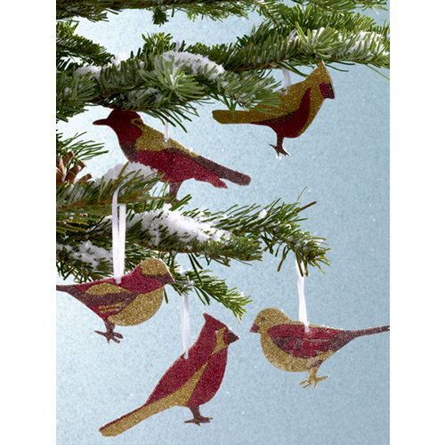 Martha Stewart Crafts - Holiday - Ornament Kit - Glitter Birds