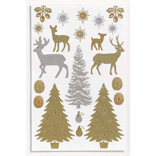 Martha Stewart Crafts - Holiday - Glitter Stickers - Woodland