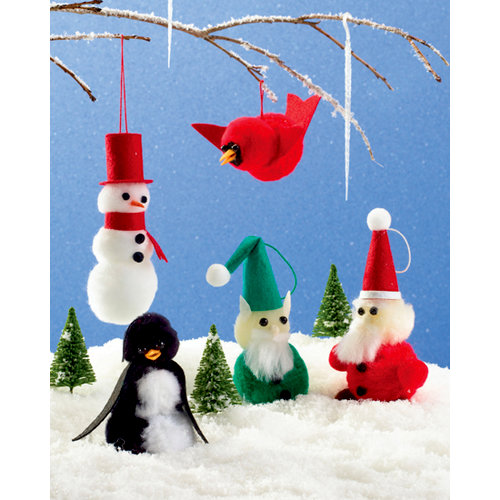Martha Stewart Crafts - Holiday - Pom Poms Kit - Holiday Ornaments