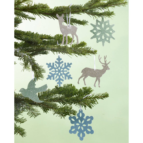 Martha Stewart Crafts - Holiday - Glitter Ornament Kit - Snowflakes and Woodland Creatures