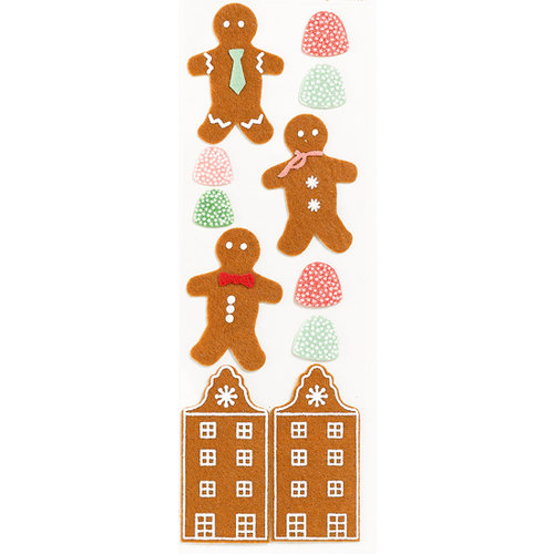 Martha Stewart Crafts - Holiday - Felt Stickers - Gingerbread