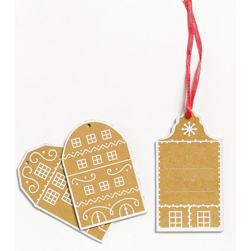 Martha Stewart Crafts - Holiday - Tags - Gingerbread House, CLEARANCE