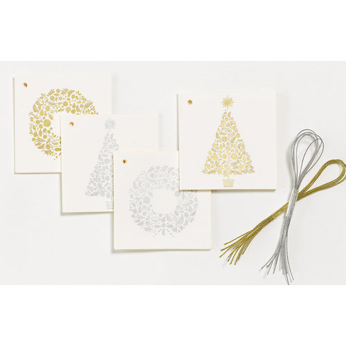 Martha Stewart Crafts - Holiday - Folded Tags - Woodland