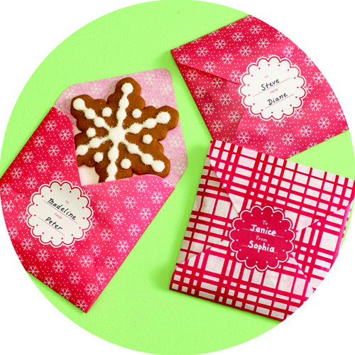 Martha Stewart Crafts - Holiday - Cookie Envelopes - Red and White, CLEARANCE