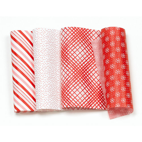 Martha Stewart Crafts - Holiday - Food Tissue Paper - Red and White