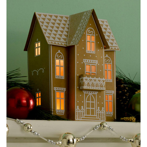 Martha Stewart Crafts - Holiday - Lantern Kit - Gingerbread House