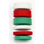 Martha Stewart Crafts - Holiday - Ribbon Pack - Scalloped Felt - Red White and Green