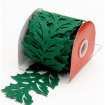Martha Stewart Crafts - Holiday - Die Cut Felt Ribbon - Holly