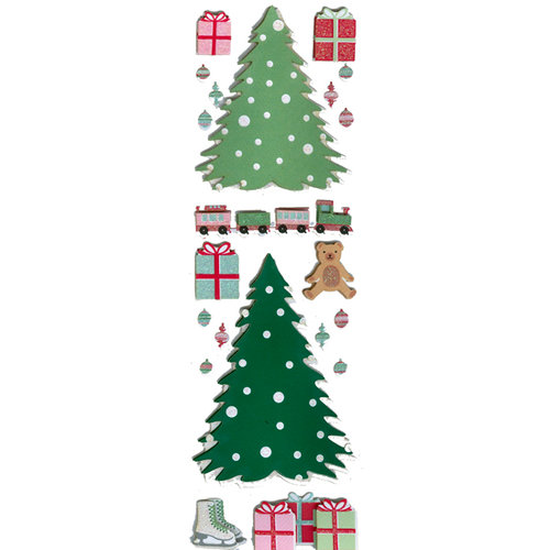 Martha Stewart Crafts - Holiday - Glitter Stickers - Vintage Tree