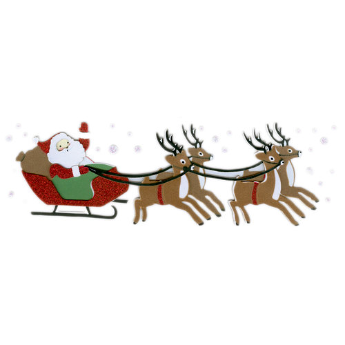 Martha Stewart Crafts - Holiday - Stickers - Vintage Santa Sleigh, BRAND NEW