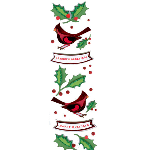 Martha Stewart Crafts - Holiday - Stickers - Cardinal and Holly