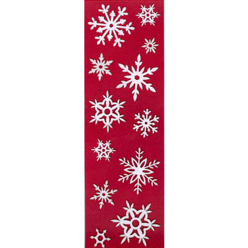 Martha Stewart Crafts - Holiday - Glitter Stickers - White Snowflakes, BRAND NEW