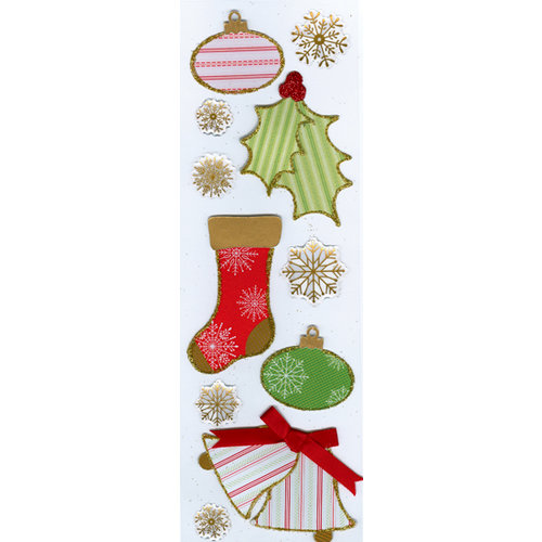 Martha Stewart Crafts - Holiday - Tinsel Stickers - Elegant, CLEARANCE