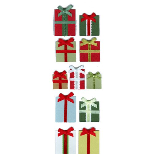 Martha Stewart Crafts - Holiday - Layered Stickers - Gift Box, BRAND NEW