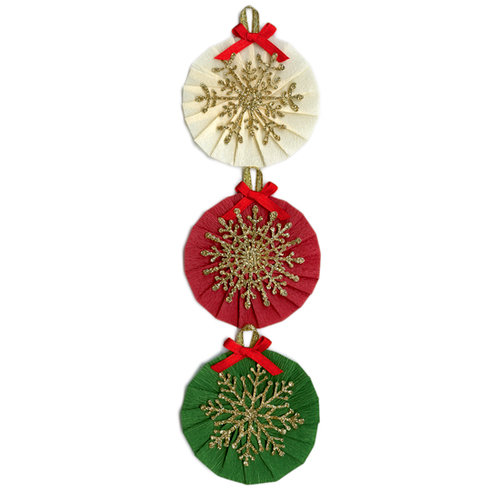Martha Stewart Crafts - Holiday - Stickers - Snowflake Rosette