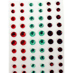 Martha Stewart Crafts - Holiday - Bling - Gemstone Stickers - Green and Red, CLEARANCE