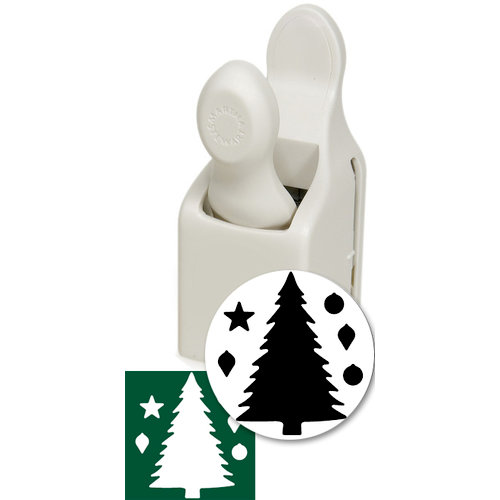 Martha Stewart Crafts - Holiday - Craft Punch - Large - Christmas Tree and Ornaments, BRAND NEW