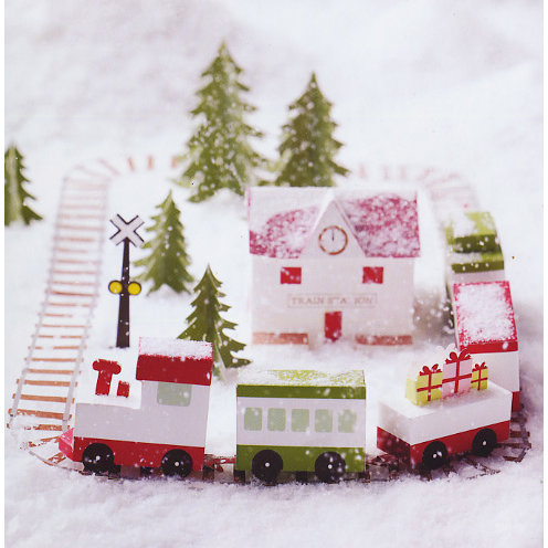 Martha Stewart Crafts - Holiday - Glittering Train Station