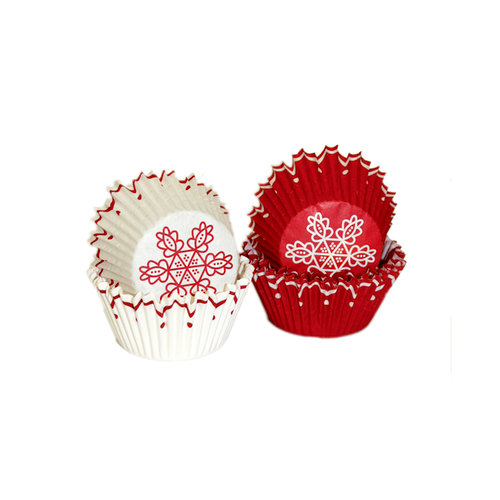 Martha Stewart Crafts - Holiday - Mini Cupcake Wrappers - Red Scallop, BRAND NEW