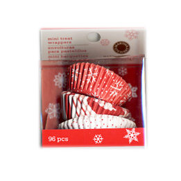Martha Stewart Crafts - Holiday - Mini Cupcake Wrappers - Candy Cane