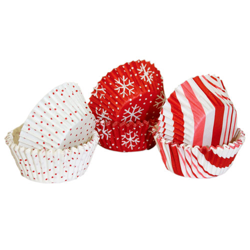 Martha Stewart Crafts - Holiday - Cupcake Wrappers - Candy Cane